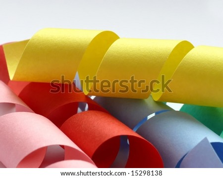 Colorful paper spring