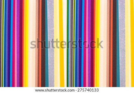 colorful paper stripes