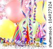 colorful party background with balloons - stock photo