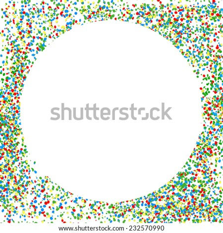 Colorful Party Background with Confetti