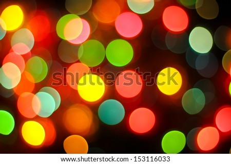 Colorful party elegant abstract background with bokeh lights