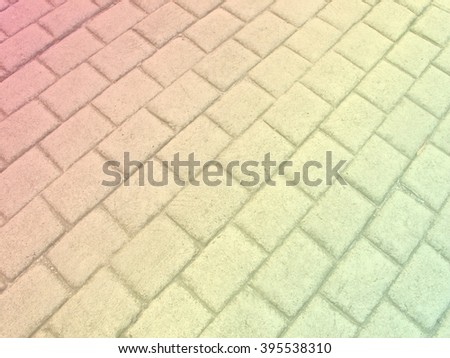 colorful pastel color concrete floor striped square for background like reggae - stock photo