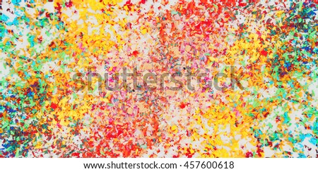 Colorful pastel cyan scraps, abstract color - stock photo