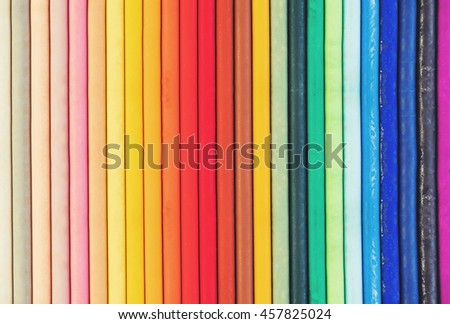 Colorful pastel oil crayon