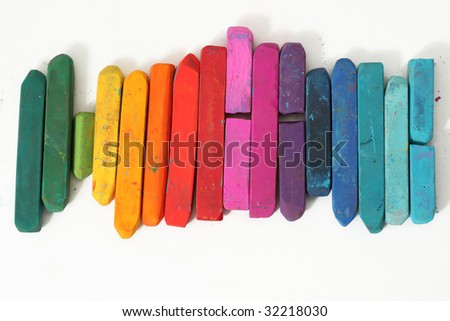 Colorful pastel sticks - stock photo