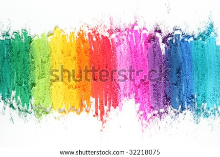 colorful pastel sticks texture - stock photo