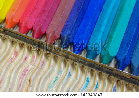 Colorful pastels crayon