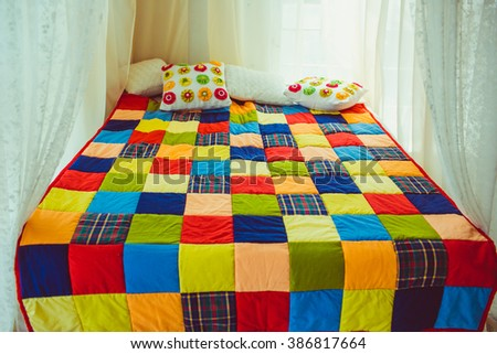 Patchwork Quilt Stock Images, Royalty-Free Images & Vectors ... : colourful patchwork quilt - Adamdwight.com