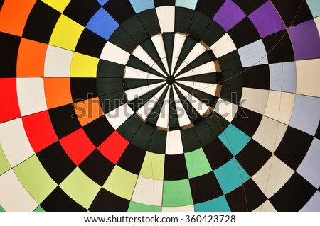 Colorful Pattern Inside of a Hot Air Balloon - stock photo