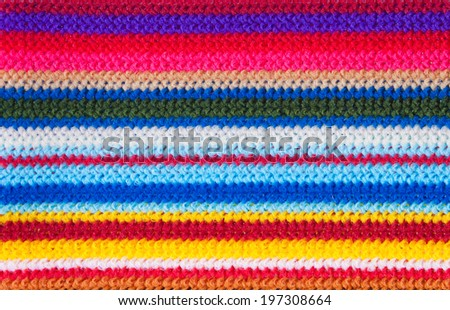 Colorful pattern made from fabric