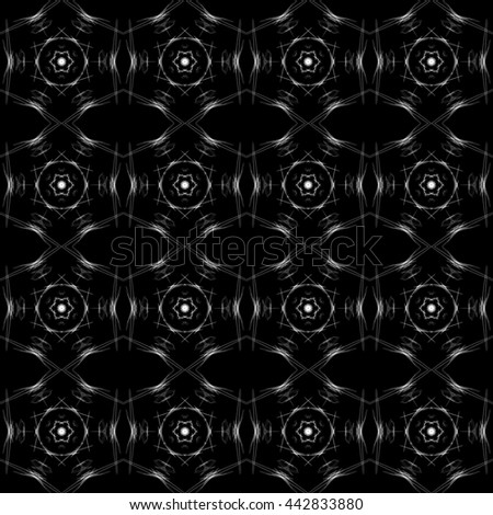 Colorful pattern on dark background, repeating background.