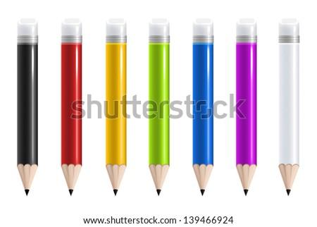 Colorful pencils - stock photo