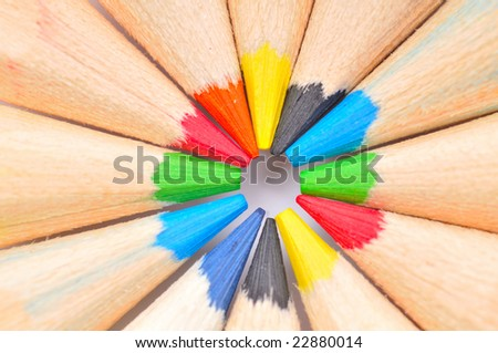colorful pencils as background