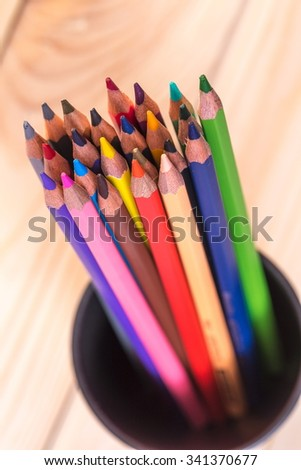 Colorful pencils isolated on background.