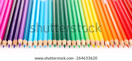 Colorful pencils, isolated on white