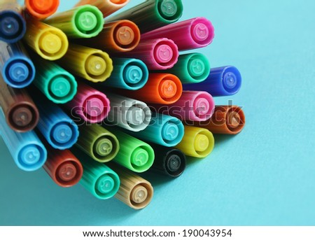 Colorful pens
