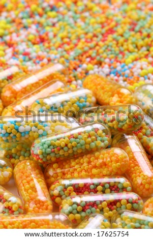 Colorful pharmaceutical capsules - stock photo