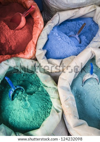 Colorful pigments - stock photo