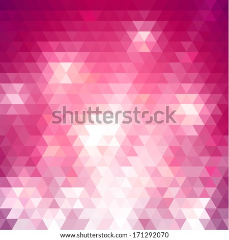 Colorful pink triangles background  - raster version - stock photo