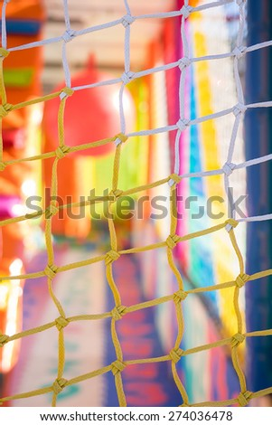 colorful plastic background from the children's playground - stock photo