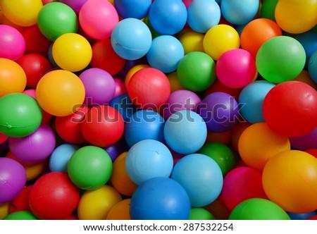 Colorful plastic balls background - stock photo