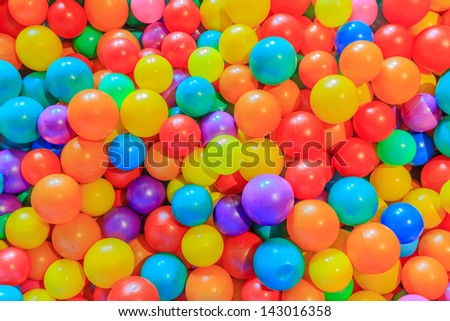 colorful plastic multi-colored balls - stock photo