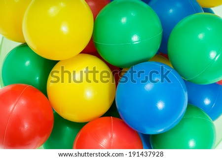 Colorful plastic toy balls