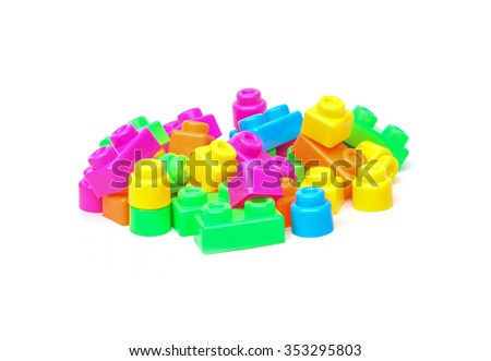colorful plastic toy for kids to practice assembly