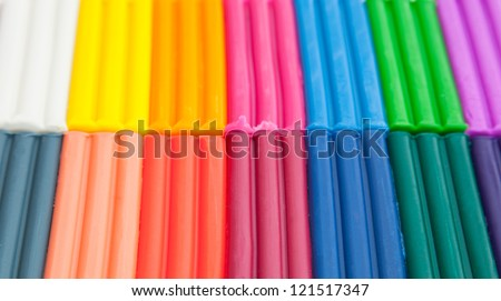 Colorful plasticine background