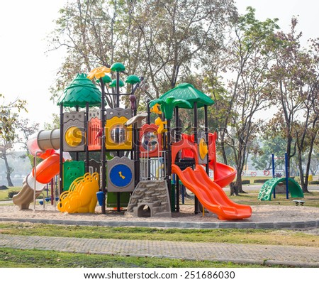Colorful playground fun on parks