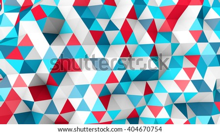 colorful polygonal surface. computer generated abstract 3D render