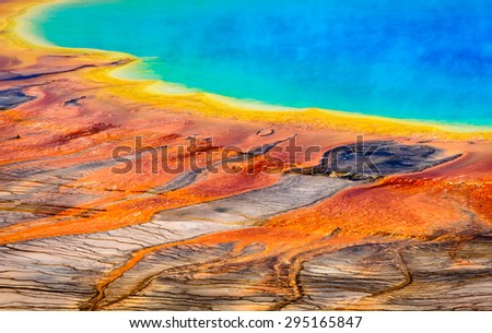 Colorful Pool at Yellow Stone National Park