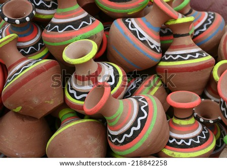 Colorful pottery  - stock photo
