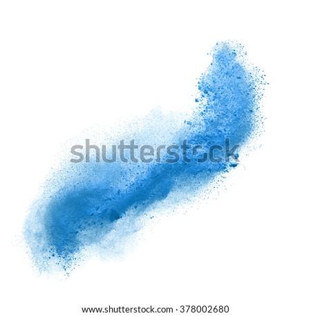 colorful powder splash isolated on white background - stock photo