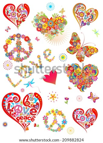 Colorful prints for creative design. Raster copy