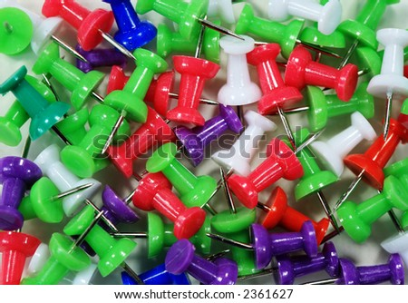Colorful push pin abstract background