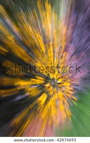colorful radial abstract