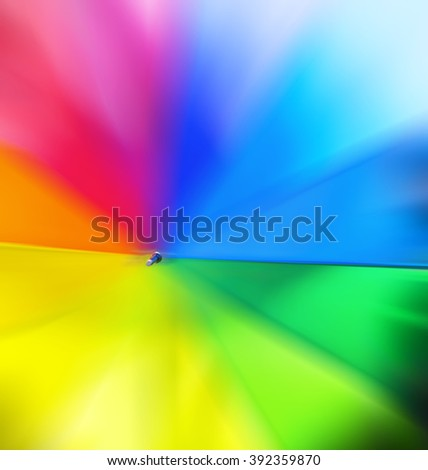 Colorful Radial - blur - selective focus - stock photo