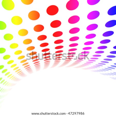 Colorful Rainbow Halftone Dot Pattern