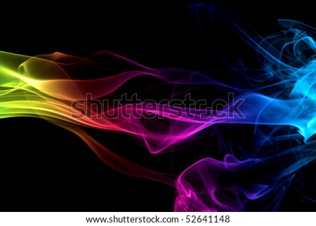 Colorful rainbow smoke - stock photo