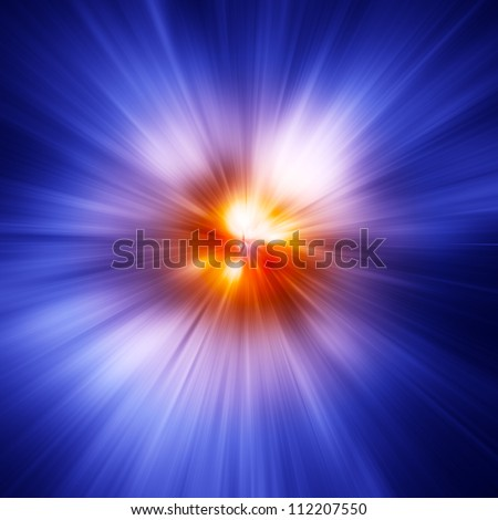 Colorful rays of light - stock photo