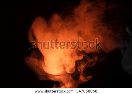 colorful red smoke flame background