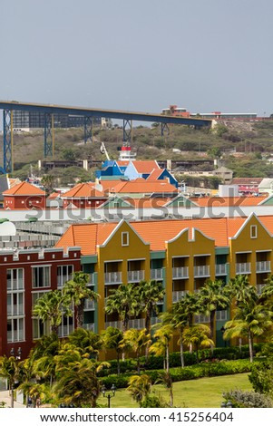 Colorful Resorts on the Island of Curacao