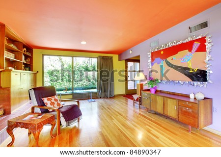 Colorful retro interior design