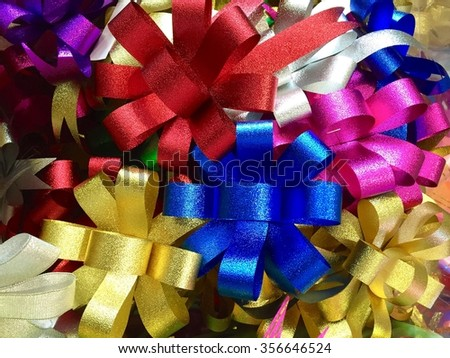 Colorful ribbon for gifts - stock photo