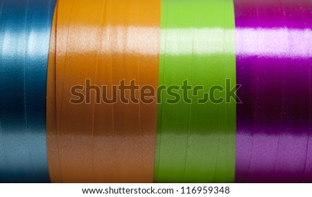 Colorful Ribbon Stripes Background - stock photo