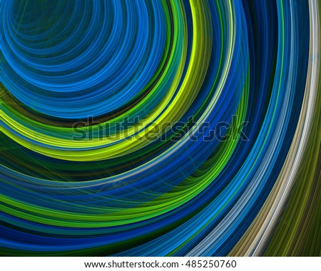 Colorful rings and lines abstract background. Computer generated fractal image