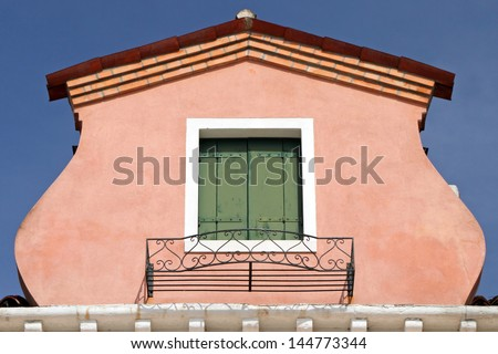 colorful roof window in Burano, Venice, Italy, Europe - stock photo