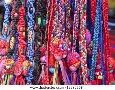 colorful rope weave - stock photo