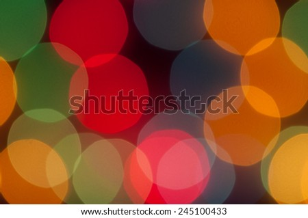 Colorful round bokeh for the background